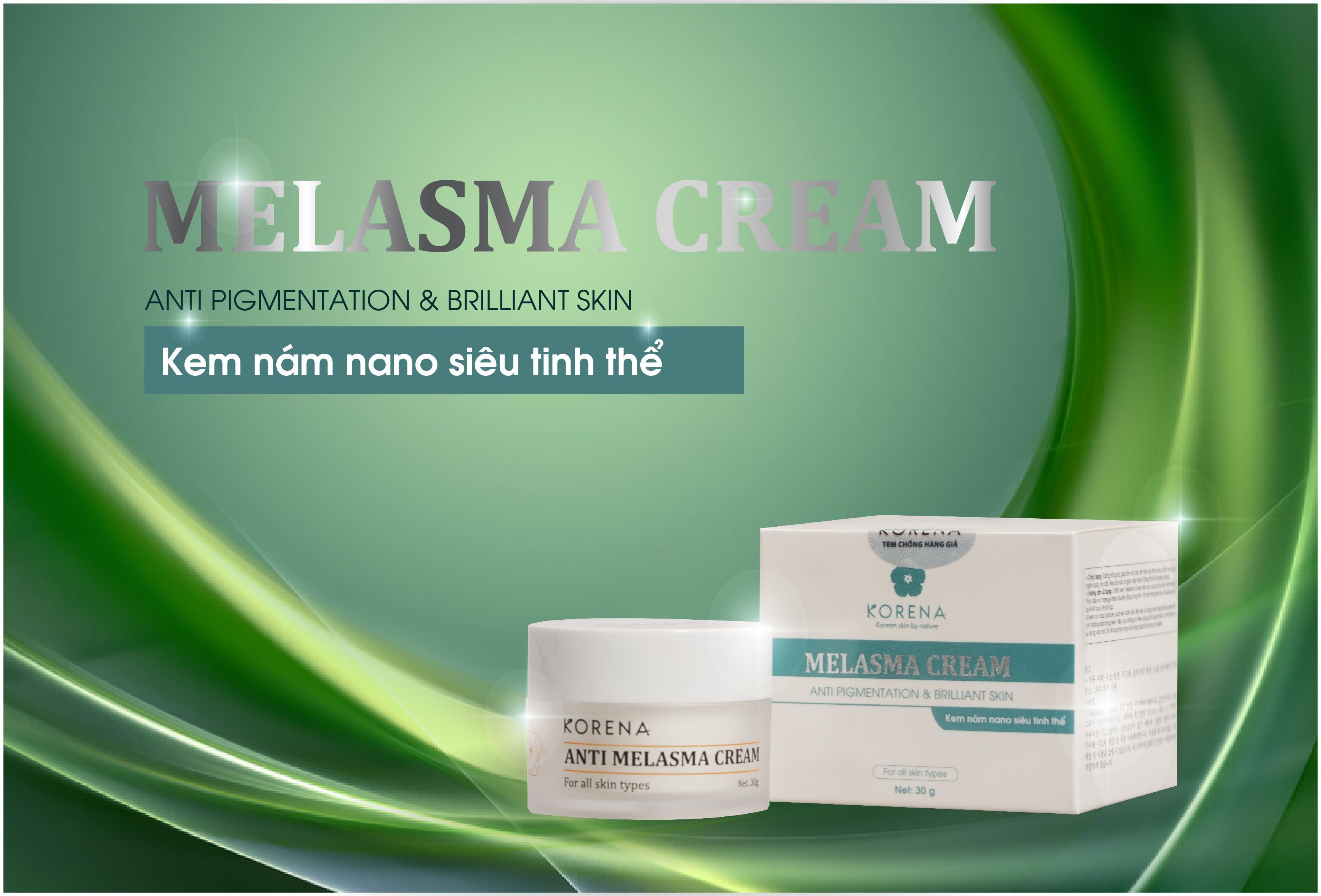Anti Melasma Cream Korena Kem trị nám chứa vitamin C cùng nhân sâm